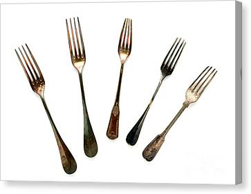 Forks Canvas Print by Olivier Le Queinec