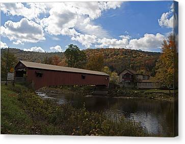Forksville Covered Bridge Canvas Print by Elsa Marie Santoro