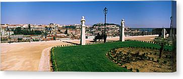 Formal Garden In A City, Alfama Canvas Print by Panoramic Images