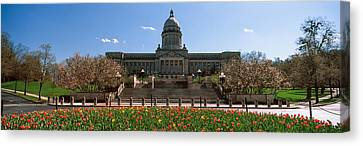Formal Garden Outside State Capitol Canvas Print by Panoramic Images