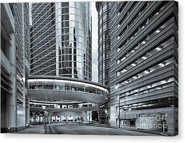 Former Enron Skybridge Ghosts Of The Past - Houston Texas Canvas Print by Silvio Ligutti