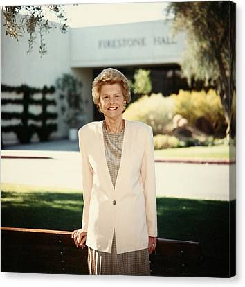 Former First Lady Betty Ford Posing Canvas Print by Everett