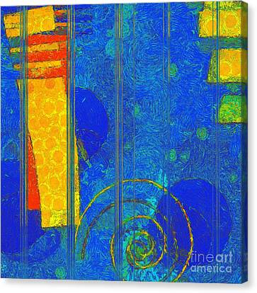 Formes - A0201blylgr Canvas Print by Variance Collections