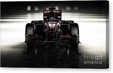 Formula 1 Face Canvas Print by Marshall Bishop
