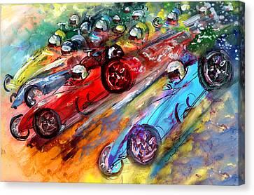 Formula 1 Madness Canvas Print by Miki De Goodaboom