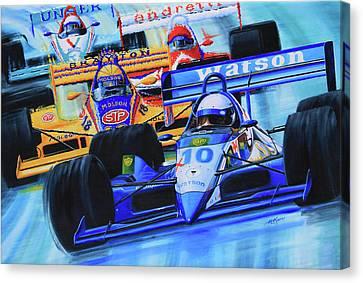 Formula 1 Race Canvas Print by Hanne Lore Koehler