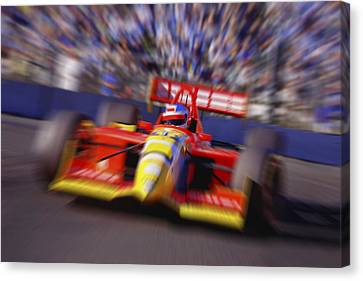 Formula Racing Car At Speed Canvas Print by Don Hammond