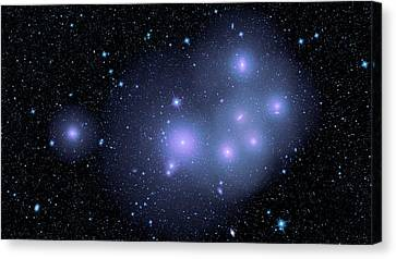 Fornax Cluster Galaxies Canvas Print by Nasa/jpl-caltech