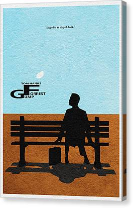 Forrest Gump Canvas Print by Ayse Deniz