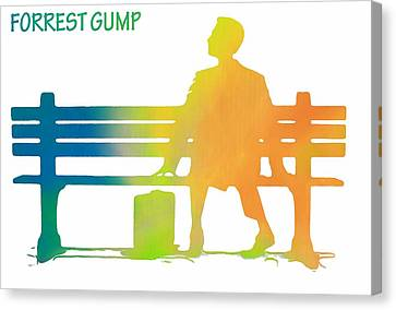 Forrest Gump Poster Canvas Print by Dan Sproul