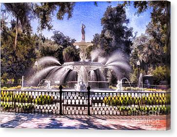 Forsyth Park Fountain Canvas Print