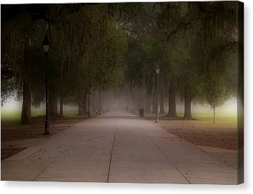 Canvas Print featuring the photograph Forsyth Park Pathway by Frank Bright