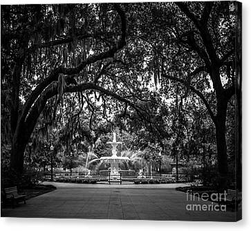 Forsyth Park Canvas Print by Perry Webster