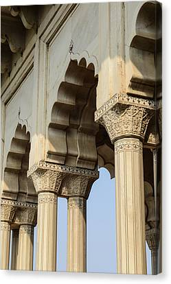 Fort Agra Pillars In India Canvas Print by Brandon Bourdages