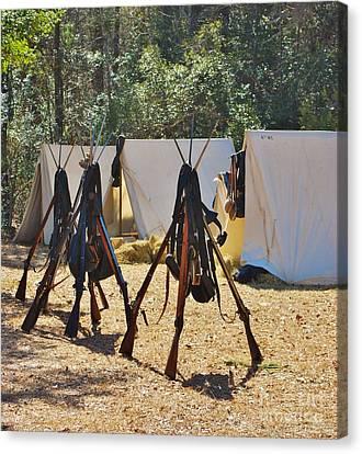 Fort Anderson Civil War Re Enactment 3 Canvas Print by Jocelyn Stephenson