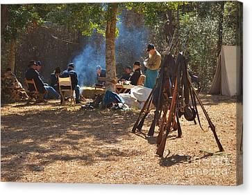 Fort Anderson Civil War Re Enactment 4 Canvas Print by Jocelyn Stephenson