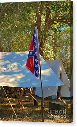 Confederate Encampment At Fort Anderson  Canvas Print by Jocelyn Stephenson