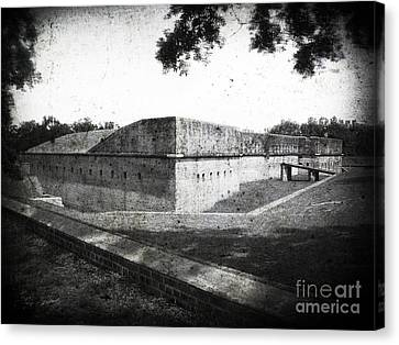 Fort Barrancas Faux Civil War Era Photograph Canvas Print