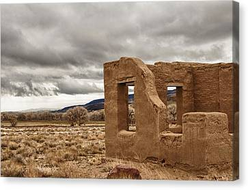 Canvas Print featuring the photograph Fort Churchill Nevada by Janis Knight