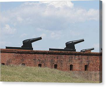 Fort Clinch Cannons Canvas Print