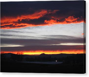 Fort Collins Co Sunset In February Canvas Print