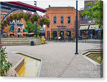 Fort Collins Old Square Canvas Print by Keith Ducker