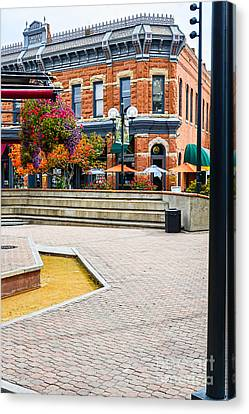 Fort Collins Square Canvas Print by Keith Ducker