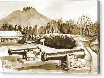 Fort Davidson Cannon Iv Canvas Print by Kip DeVore