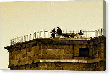 Fort Delaware Cleaning Crew Canvas Print by Amazing Photographs AKA Christian Wilson