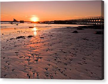 Fort Foster Sunset Canvas Print