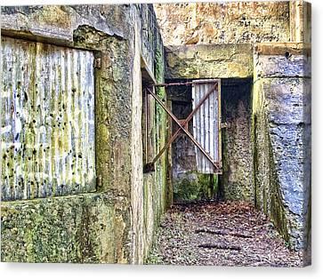 Fort Fremont Open Window Canvas Print by Scott Hansen