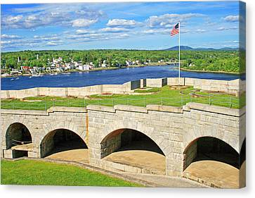 Fort Knox In Maine Canvas Print