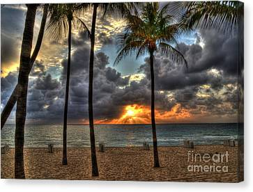 Fort Lauderdale Beach Florida - Sunrise Canvas Print