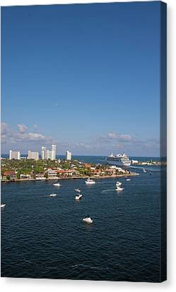 Fort Lauderdale, Port Everglades Canvas Print by Jim Engelbrecht