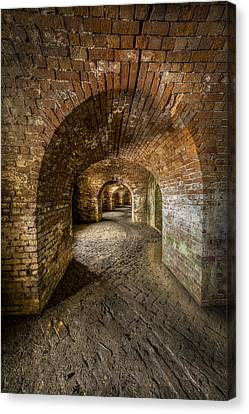 Fort Macomb Arches Vertical Canvas Print by David Morefield