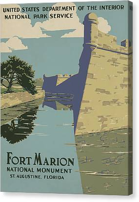 Fort Marion Canvas Print by American Classic Art