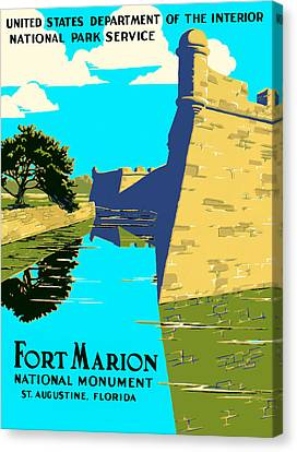 Fort Marion - Castillo De San Marcos Canvas Print by Mark E Tisdale