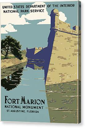 Spanish Fort Canvas Print - Fort Marion National Monument by Georgia Fowler