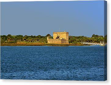 Historic Site Canvas Print - Fort Matanzas - Saint Augustine Florida by Christine Till