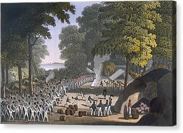 Fort Maxwell, 1820 Canvas Print by English School