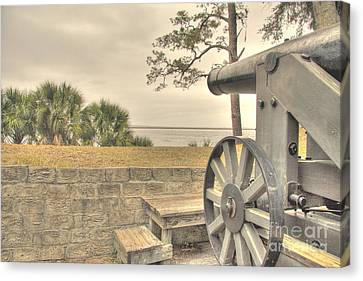 Fort Mcallister Cannon Canvas Print