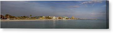 Fort Myers Beach Panorama Canvas Print by Anne Rodkin