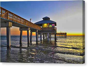 Fort Myers Beach Pier 3 Canvas Print