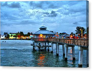 Canvas Print featuring the photograph Fort Myers Beach by Rosemary Aubut