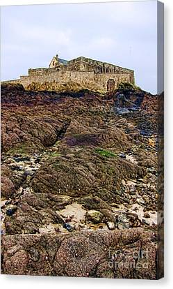 Fort National In Saint Malo Brittany Canvas Print by Olivier Le Queinec