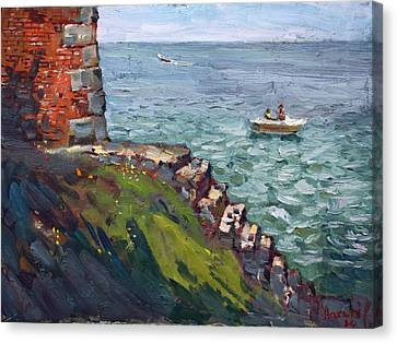 Fort Niagara By Lake Ontario Canvas Print by Ylli Haruni