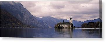 Fort On An Island In A Lake, Schloss Canvas Print by Panoramic Images