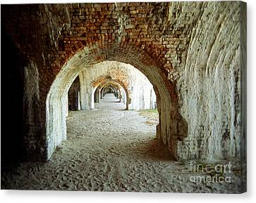 Canvas Print featuring the photograph Fort Pickens Arches by Tom Brickhouse