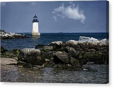 Coastguard Canvas Print - Fort Pickering Light by Joan Carroll