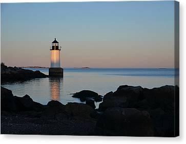 Oxford. Oxford Ma. Massachusetts Canvas Print - Fort Pickering Lighthouse Winter Island Salem Ma by Toby McGuire
